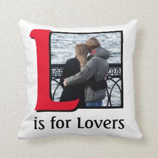 L für Liebhaber Kissen