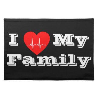 L I Liebe meine Herz-Platzmatte der Familie Tischset