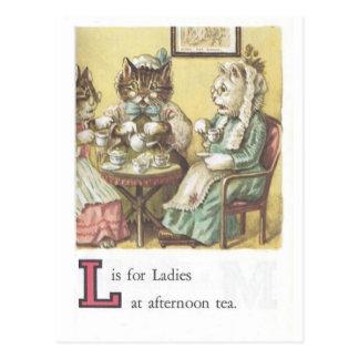 L ist für Damen-Postkarte Postkarte