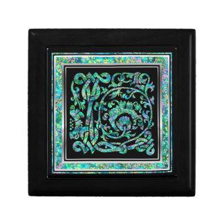 L Monogramm Masselle blauer dekorativer Kasten Geschenkbox