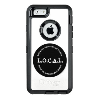 L.O.C.A.L. Schwarzweiss-iPhone 6 Otter-Kasten OtterBox iPhone 6/6s Hülle