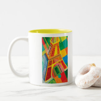 La-Ausflug Eiffel durch Robert Delaunay Zweifarbige Tasse