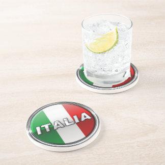 La Bandiera - die italienische Flagge Getränkeuntersetzer