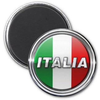 La Bandiera - die italienische Flagge Runder Magnet 5,7 Cm