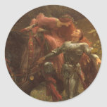 La Belle Dame sans Merci, Dicksee, Victorian Art Round Stickers