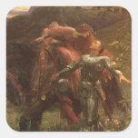 La Belle Dame sans Merci, Dicksee, Victorian Art Square Sticker