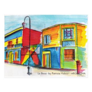 La Boca - durch Patricia Vidour - ARGENTINIEN Postkarte