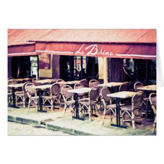 La Boheme Paris Café-Anmerkungs-Karte Karte
