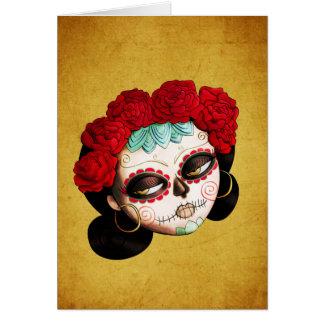 La Catrina - Dia de Los Muertos Girl Karte