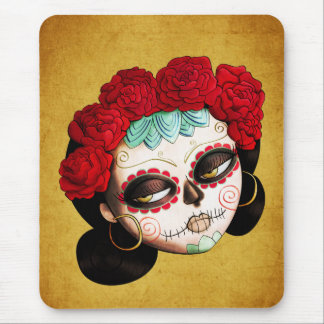 La Catrina - Dia de Los Muertos Girl Mousepad