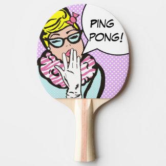 La-Di-DA Paddel Damen-Pop Art Ping Pong Tischtennis Schläger