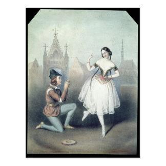La Esmeralda': Carlotta Grisi u. Jules Perrot Postkarte