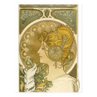 La-Feder Alphonse Muchas Postkarte