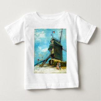 La Galette Vincent van Goghs Le Moulin de Baby T-shirt