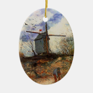 La Galette, Vintage Windmühle Van Gogh Le Moulin Keramik Ornament