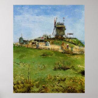 La Galette, Vintage Windmühle Van Gogh Le Moulin Poster