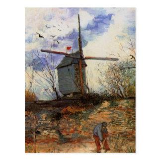 La Galette, Vintage Windmühle Van Gogh Le Moulin Postkarten