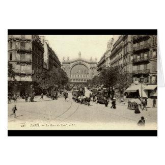 La Gare du Nord Paris, Frankreich c1905 Vintag Karte