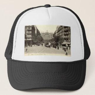 La Gare du Nord Paris, Frankreich c1905 Vintag Truckerkappe