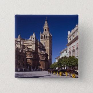 La Giralda Sevillas, Spanien | Quadratischer Button 5,1 Cm