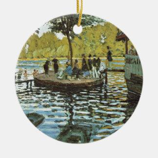 La Grenouillere - Claude Monet Rundes Keramik Ornament