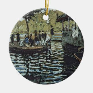 La Grenouillere Claude Monets | Rundes Keramik Ornament