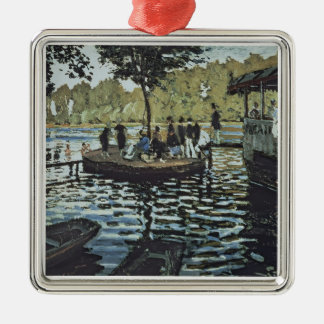 La Grenouillere Claude Monets | Silbernes Ornament