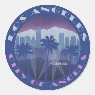 LA Hollywood cool Runder Aufkleber