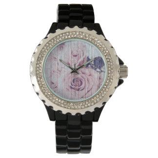 La konkurrieren en-Rosen-französisches Shabby Armbanduhr
