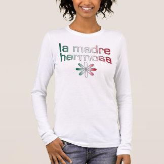 La Madre Hermosa Mexiko Flaggen-Farben Langarm T-Shirt