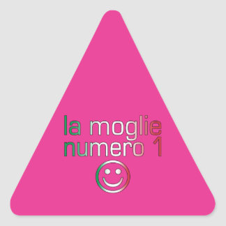 La Moglie Numero 1 - Ehefrau der Nr.-1 auf Dreiecks-Aufkleber