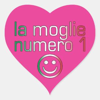 La Moglie Numero 1 - Ehefrau der Nr.-1 auf Herz-Aufkleber