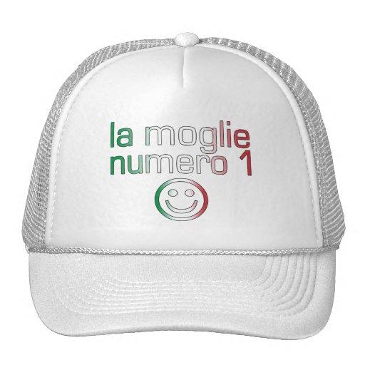 La Moglie Numero 1 - Ehefrau der Nr.-1 auf italien Baseballmützen