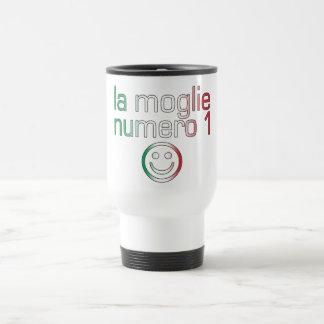 La Moglie Numero 1 - Ehefrau der Nr.-1 auf italien Edelstahl Thermotasse