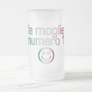 La Moglie Numero 1 - Ehefrau der Nr.-1 auf Matte Glastasse