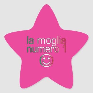 La Moglie Numero 1 - Ehefrau der Nr.-1 auf Stern-Aufkleber