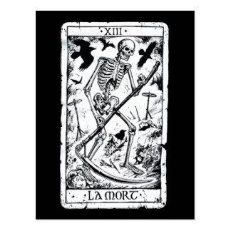 La Mort Tarot-Karte Postkarte