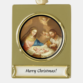La Natividad Banner-Ornament Gold