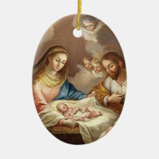 La Natividad Ovales Keramik Ornament