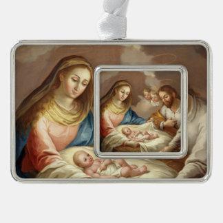 La Natividad Rahmen-Ornament Silber