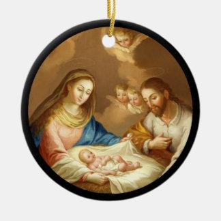 La Natividad Rundes Keramik Ornament