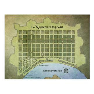 La Nouvelle Orléans oder New- Orleanskarte Postkarten