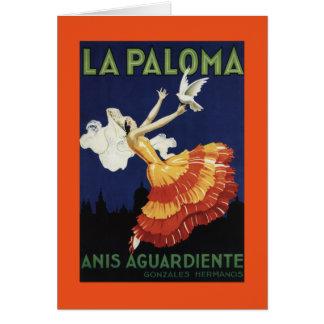 La Paloma - Anis Aguardiente fördernd Karte