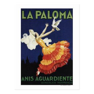 La Paloma - Anis Aguardiente fördernd Postkarte
