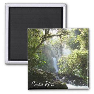 La- Pazwasserfall, Heredia, Costa Rica-Magnet Quadratischer Magnet
