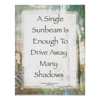 La Piazza de Sunbeam Prayer durch St Francis Poster