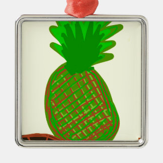 La pina lola Ananas Silbernes Ornament