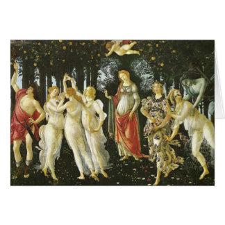 La Primavera durch Sandro Botticelli Grußkarte