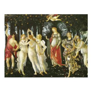 La Primavera durch Sandro Botticelli Postkarte