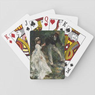 La-Promenade Renoir Paar-gehende Malerei-Kunst Spielkarten